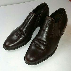 Bandolino Brown Leather Block Heeled Bootie